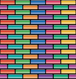 Colorful brick wall, vector  Royalty Free Stock Images