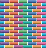 Colorful brick wall, vector  Royalty Free Stock Photo
