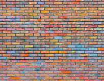 Colorful brick wall texture Royalty Free Stock Image