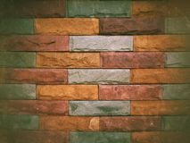 Colorful brick wall textured background Stock Photography