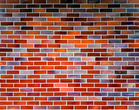 Colorful brick wall background. Wall of various color bricks and bright mortar stock image
