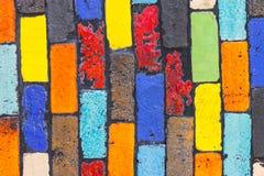 Colorful brick wall Royalty Free Stock Image