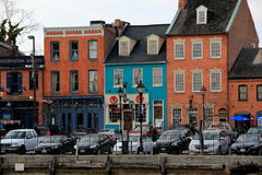 Colorful brick and wood storefront architecture,Fells Point,Maryland,2015 Royalty Free Stock Photo