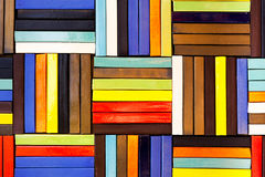 Colorful bricks decorate on the wall. Colorful bricks decorate on the beautiful wall Stock Photography