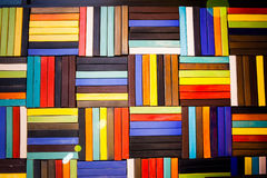 Colorful bricks decorate on the wall. Colorful bricks decorate on the beautiful wall Royalty Free Stock Image