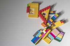 Colorful bricks. Over grey background Stock Photo