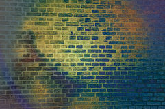 Colorful brickwall Stock Images