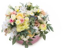 Bridal bouquet isolated. Colorful bridal bouquet isolated, copy space stock photos