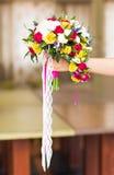Colorful bridal bouquet Stock Images