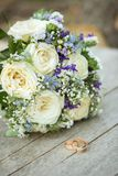 Colorful bridal bouquet Royalty Free Stock Images