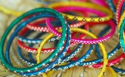 Colorful Bridal Ornament Bangles stock photo