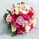 Colorful bridal wedding bouquet Stock Images