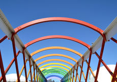 Colorful bridge in Aviles Stock Photography