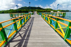Colorful Bridge and Islands Royalty Free Stock Photography