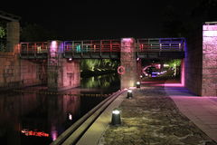 Colorful bridge. Royalty Free Stock Photo