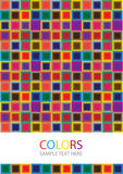 Colorful bright background with mosaic tiles Royalty Free Stock Image