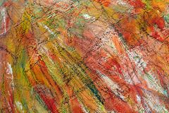 Colorful bright background. the strokes of paint. orange spots on canvas royalty free stock image