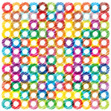 Colorful bright background with scribble circles Stock Photography