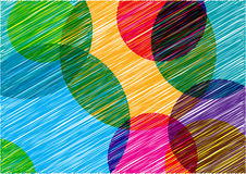 Colorful bright background with scribble circles Royalty Free Stock Photography
