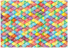 Colorful bright background with scribble pyramids Stock Photo