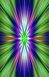 Colorful bright background from the strips diverge from the middle to the edges. Abstract unique illustration and decoration. Violet and green, blue and red Stock Photos