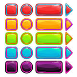 Colorful Bright Buttons Set Royalty Free Stock Photos