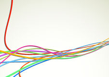 Colorful bright cable background - rapid speed Royalty Free Stock Photos