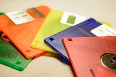Colorful computer disks Stock Photography