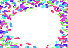Colorful bright confetti abstract layout over white. Vector illustration royalty free illustration