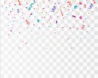 Free Colorful Bright Confetti Isolated On Transparent Background. Festive Vector Illustration Stock Photo - 105126220