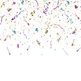 Colorful bright confetti isolated on transparent background. vector illustration
