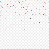 Colorful bright confetti isolated on transparent background. Vector illustration vector illustration