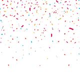 Colorful bright confetti isolated on transparent background. Vector illustration stock illustration