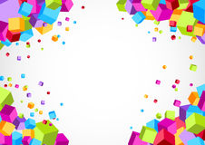 Colorful bright cube corner background Royalty Free Stock Photography