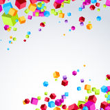 Colorful bright cube exploded particle background Royalty Free Stock Photography