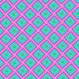 Colorful bright diamonds repeating pattern in pink and blue. Colorful bright diamonds repeating pattern in pink, green and blue with 3D appearance for textile royalty free illustration