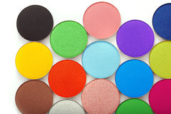 Colorful bright eye shadow Stock Image