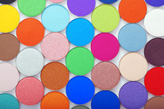 Colorful bright eye shadow Royalty Free Stock Photos