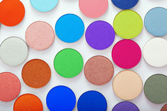 Colorful bright eye shadow Royalty Free Stock Photo