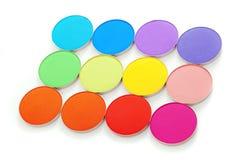 Colorful bright eye shadow Stock Photos