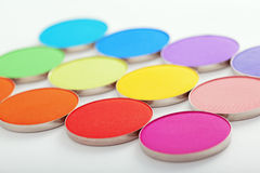 Colorful bright eye shadow Stock Photo