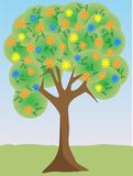 Colorful bright flower tree  illustration Stock Photography