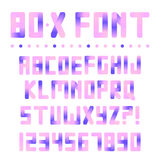 Colorful bright font Royalty Free Stock Images