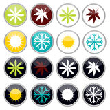 Colorful bright four seasons icons Royalty Free Stock Photo