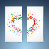 Colorful bright heart symbol headers set Stock Photography