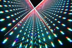Colorful bright illumination in nightclub Royalty Free Stock Photos