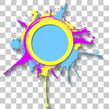 Colorful bright ink splashes Stock Photography