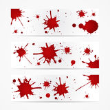 Colorful bright ink splashes on white background Stock Photos