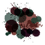 Colorful bright ink splashes on white background Royalty Free Stock Image