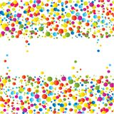 Colorful bright ink splat design Royalty Free Stock Photo